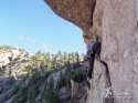 The Pterodactyl Traverse, P5. \'Shock Treatment\', Big Rock Candy Mountain - South Platte, CO.